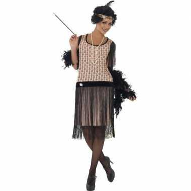 Originele roze jaren flapper carnavalskleding dames