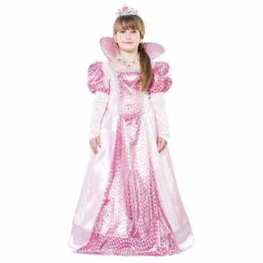 Originele roze koningin carnavalskleding meisjes