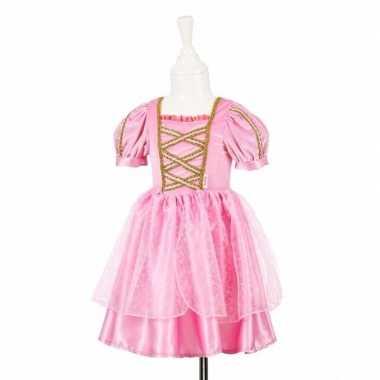 Originele roze prinsessen carnavalskleding kant meisjes
