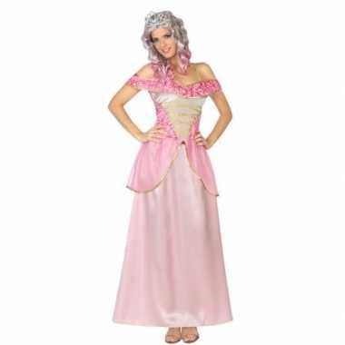 Originele roze prinsessen verkleed carnavalskleding dames