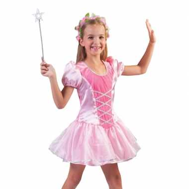 Originele roze prinsessen verkleed carnavalskleding meisjes
