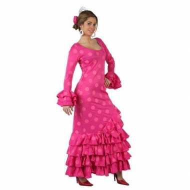 Originele  Roze Spaanse carnavalskleding carnavalskleding
