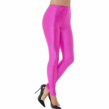 Originele roze spandex verkleed legging dames carnavalskleding