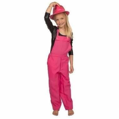 Originele roze tuinbroek/carnavalskledingl kinderen
