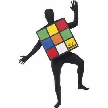 Originele  Rubiks kubus carnavalskleding volwassenen