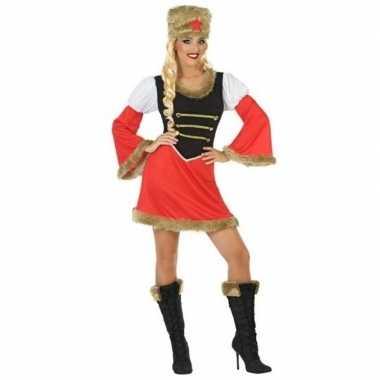 Originele russische kozak verkleed carnavalskleding dames