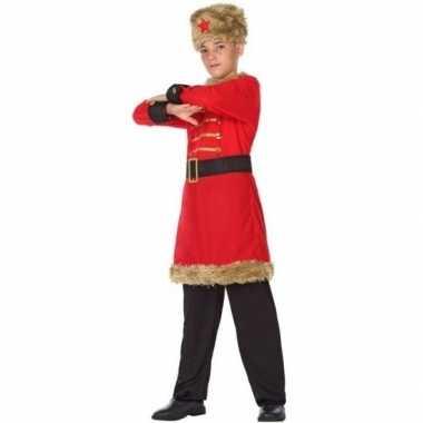 Originele russische kozakken verkleed carnavalskleding jongens