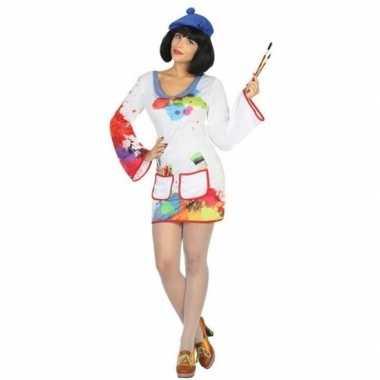 Originele schilder verkleed carnavalskleding/carnavalskleding dames