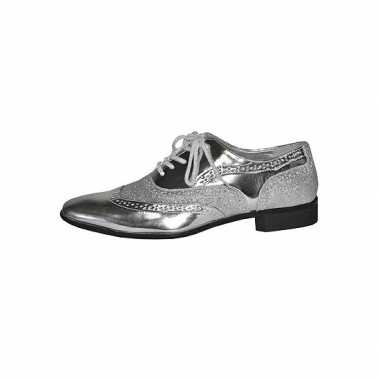 Originele seventies disco party schoenen zilver heren carnavalskledin