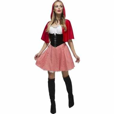 Originele sexy roodkapje carnavalskleding dames