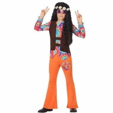 Originele sixties/hippie verkleed carnavalskleding oranje jongens