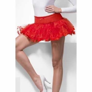 Originele sixties onderrok rood tule carnavalskleding