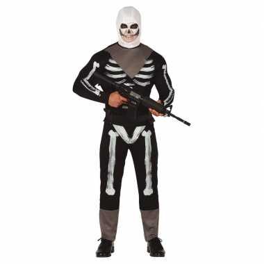 Originele skelet soldaat verkleed carnavalskleding heren