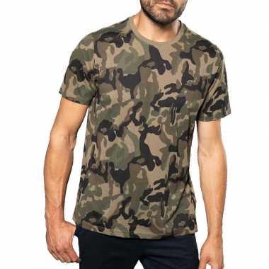 Originele soldaten / leger carnavalskleding camouflage shirt heren