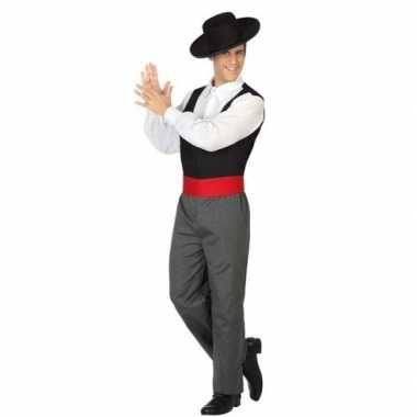 Originele spaanse flamencodanser verkleed carnavalskleding heren