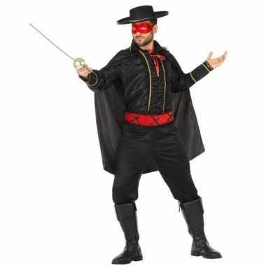 Originele spaanse gemaskerde held verkleed carnavalskleding heren