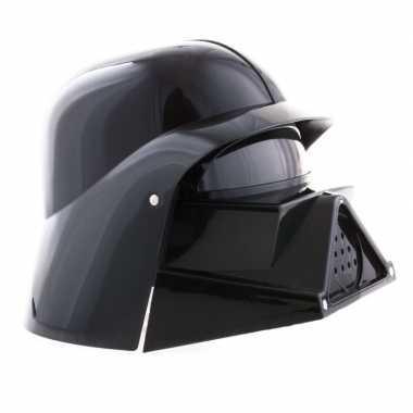 Originele space helm zwart carnavalskleding