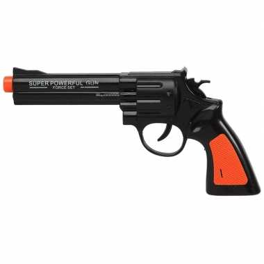 Originele speelgoed pistool/pistolen zwart geluid carnavalskleding