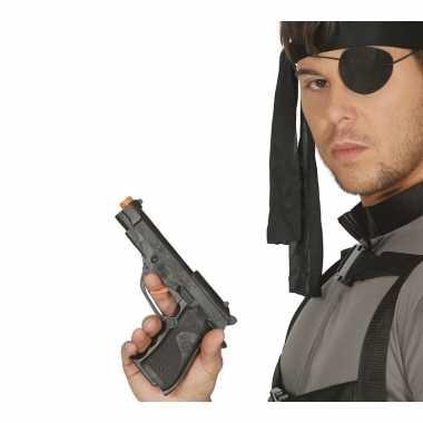 Originele speelgoed pistool zwart carnavalskleding