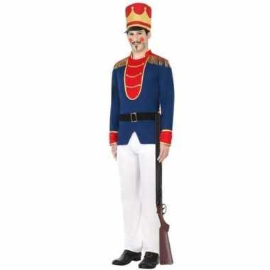 Originele speelgoed soldaat verkleed carnavalskleding heren