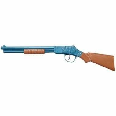 Originele speelgoed/verkleed cowboy geweer blauw . carnavalskleding
