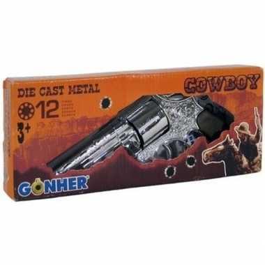 Originele speelgoed/verkleed cowboy plaffertjes pistool schots carnav