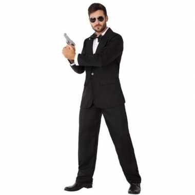 Originele spion/geheim agent carnavalskleding heren