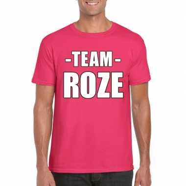 Originele sportdag team roze shirt heren carnavalskleding