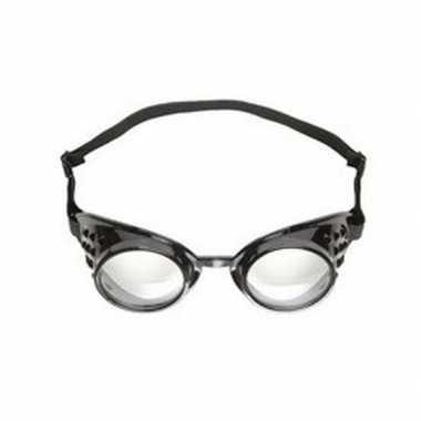 Originele steampunk bril zwart volwassenen carnavalskleding
