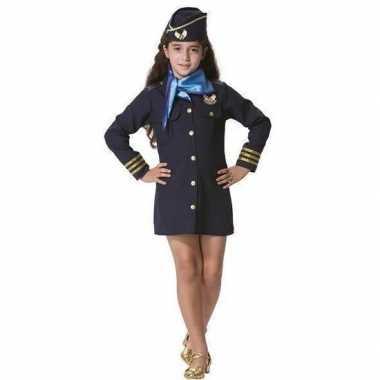 Originele stewardess carnavalskleding meisjes