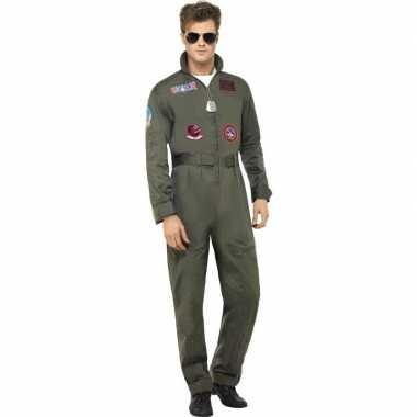 Originele straaljager top gun piloten carnavalskleding heren