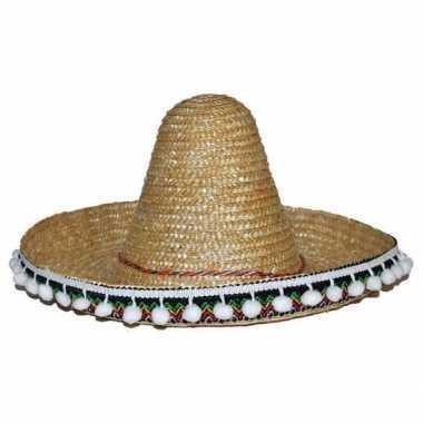 Originele stro sombrero kinderen carnavalskleding