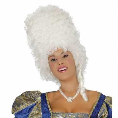Originele suikerspinnen pruik wit dames carnavalskleding
