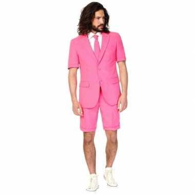 Originele  Summersuit roze heren carnavalskleding