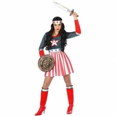 Originele superheld amerikaanse kapitein verkleed carnavalskleding/ca