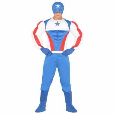 Originele superheld kapitein amerika carnavalskleding heren
