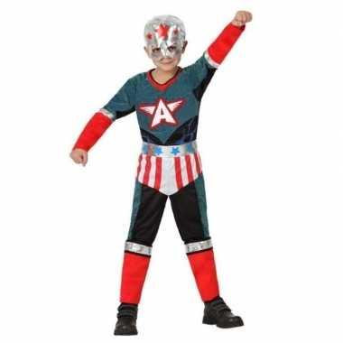 Originele superheld kapitein amerika carnavalskleding/verkleed carnav