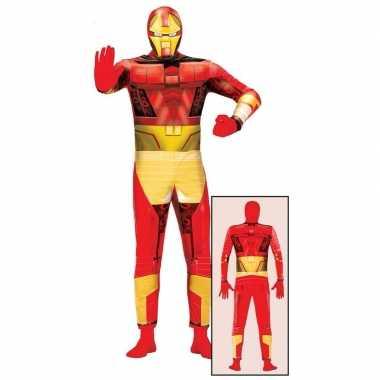 Originele superheld metalen man carnavalskleding volwassenen
