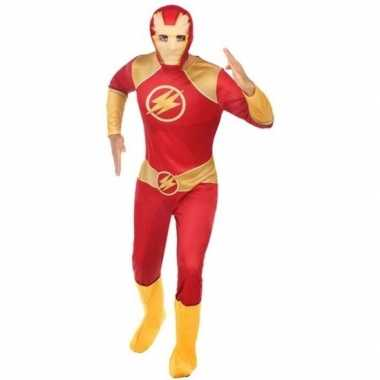 Originele superheld verkleed carnavalskleding/carnavalskleding rood/g