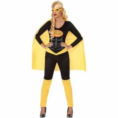Originele superheld verkleed carnavalskleding/carnavalskleding zwart/