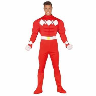 Originele superhelden verkleed carnavalskleding heren rood
