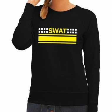 Originele swat team logo sweater zwart dames carnavalskleding