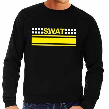 Originele swat team logo sweater zwart heren carnavalskleding