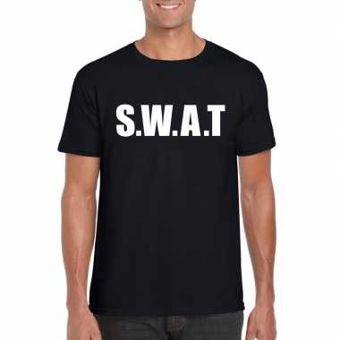 Originele swat tekst t shirt zwart heren carnavalskleding