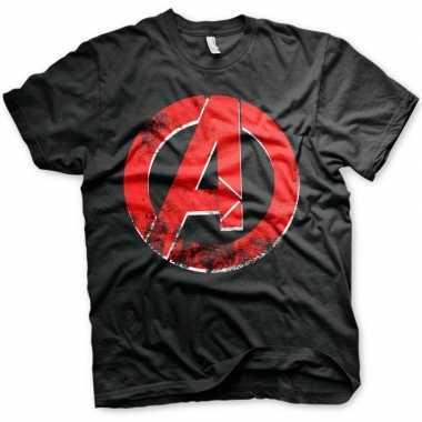 Originele the avengers embleem shirt heren carnavalskleding