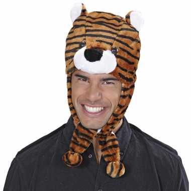 Originele tijgers muts volwassenen carnavalskleding
