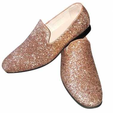 Originele toppers gouden glitter pailletten disco instap schoenen her