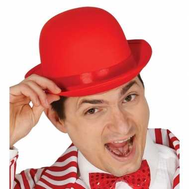 Originele toppers rode bolhoed/verkleed hoed volwassenen carnavalskle