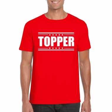 Originele toppers topper t shirt rood heren carnavalskleding