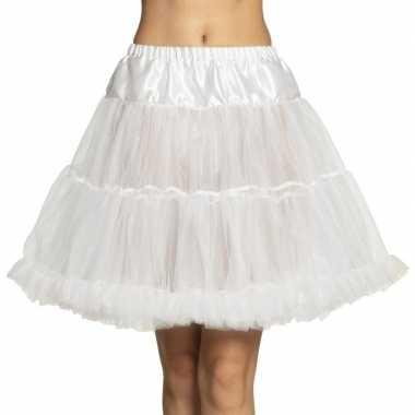 Originele toppers witte petticoat dames carnavalskleding